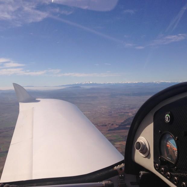 gaz'aile en vol travers pyrénées